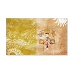 Vatican City Flag 22x14 Wall Peel