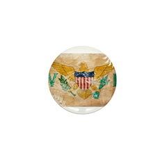 Virgin Islands Flag Mini Button