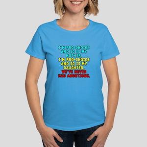 Pro-choice/mother/daughter - Women's Dark T-Shirt