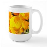 california poppies wrap around image coffee mug