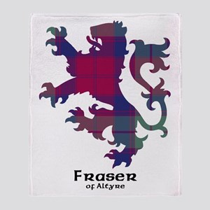Lion - Fraser of Altyre Throw Blanket