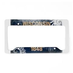 Wisconsin Flag License Plate Holder