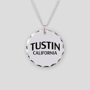 Tustin California Necklace Circle Charm