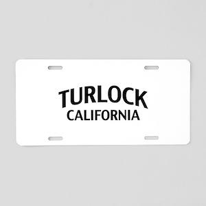 Turlock California Aluminum License Plate