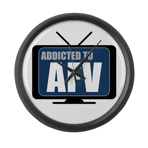 Addicted to AFV Large Wall Clock