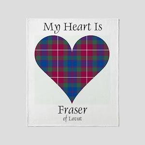 Heart - Fraser of Lovat Throw Blanket