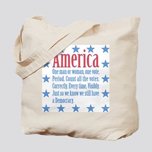 America: Count All the Votes! Tote Bag