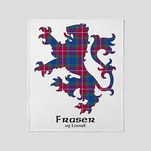 Lion - Fraser of Lovat Throw Blanket