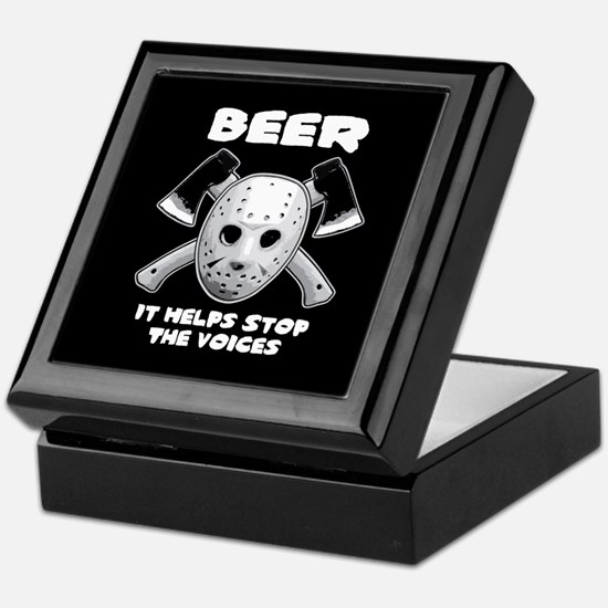 Beer Helps Stop The Voices Keepsake Box