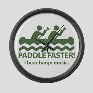 Paddle Faster I Hear Banjo Music Large Wall Clock