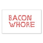 Bacon Whore Sticker (Rectangle 10 pk)