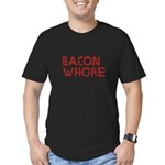 Bacon Whore Men's Fitted T-Shirt (dark)