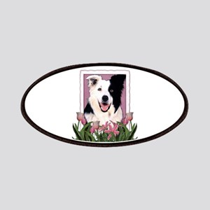 Mothers Day Pink Tulips Border Collie Patches