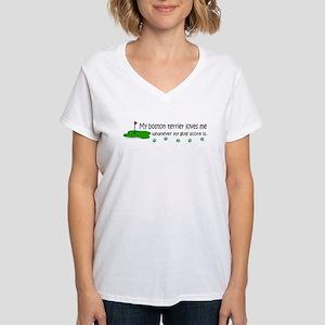 boston terrier-more breeds Women's V-Neck T-Shirt