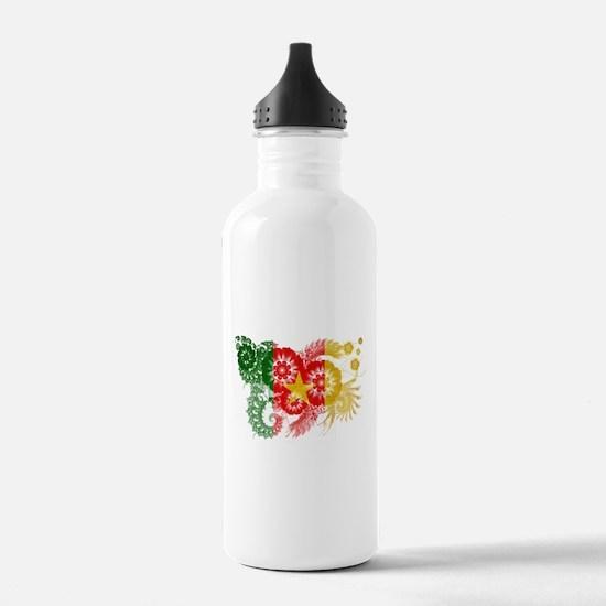 Cameroon Flag Water Bottle