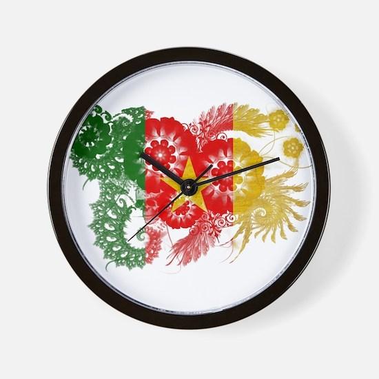 Cameroon Flag Wall Clock