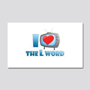 I Heart The L Word Car Magnet 20 x 12