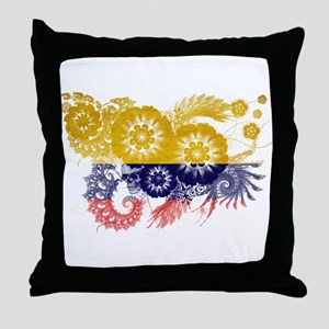 Colombia Flag Throw Pillow