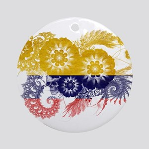 Colombia Flag Ornament (Round)