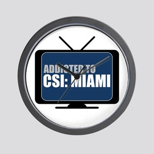 Addicted to CSI: Miami Wall Clock