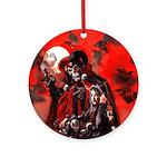 Halloween Girl Ornament (Round)