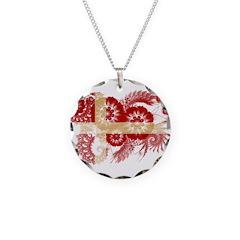 Denmark Flag Necklace