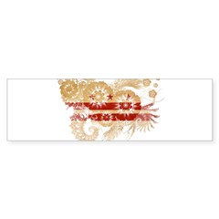 District of Columbia Flag Sticker (Bumper)