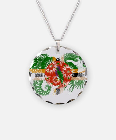 Dominica Flag Necklace