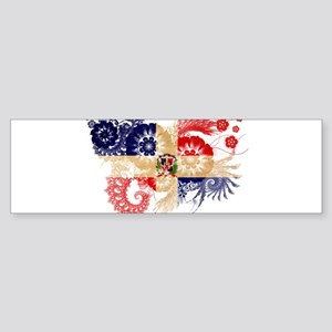 Dominican Republic Flag Sticker (Bumper)