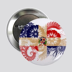 "Dominican Republic Flag 2.25"" Button"