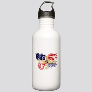 Dominican Republic Flag Stainless Water Bottle 1.0