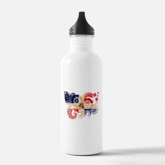 Dominican Republic Flag Water Bottle