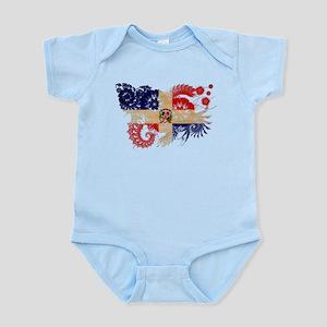 Dominican Republic Flag Infant Bodysuit