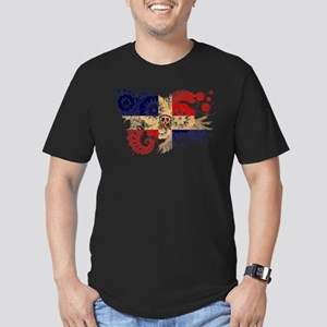 Dominican Republic Flag Men's Fitted T-Shirt (dark