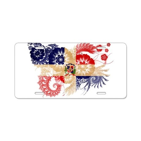 Dominican Republic Flag Aluminum License Plate