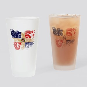 Dominican Republic Flag Drinking Glass