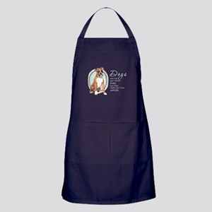 Dogs Make Lives Whole -Boxer Apron (dark)