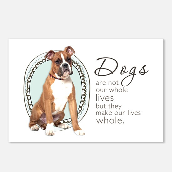 Dogs Make Lives Whole -Boxer Postcards (Package of