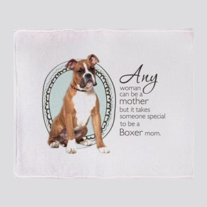 Boxer Mom Throw Blanket