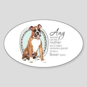 Boxer Mom Sticker (Oval)