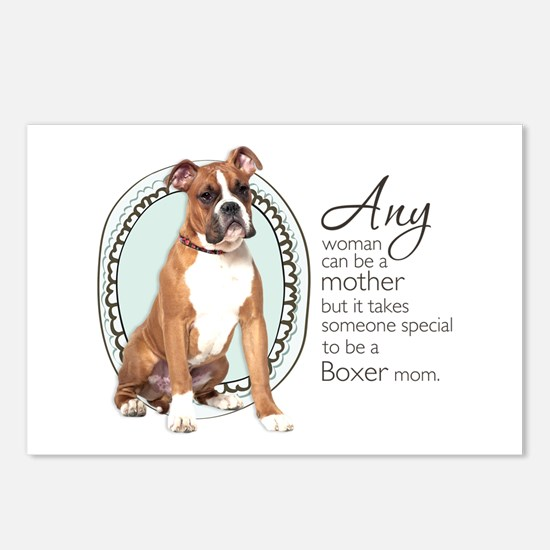 Boxer Mom Postcards (Package of 8)