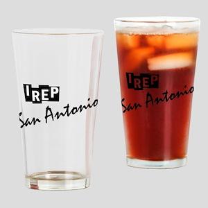 I rep San Antonio Drinking Glass