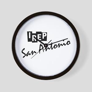 I rep San Antonio Wall Clock