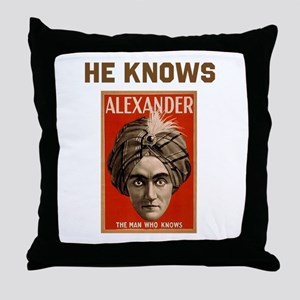 He Knows Throw Pillow