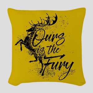 GOT Baratheon Ours Is The Fury Woven Throw Pillow