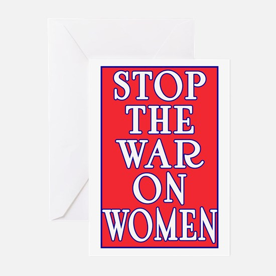 Stop the War on Women Greeting Cards (Pk of 10)