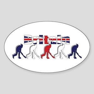 British Field Hockey Sticker (Oval)