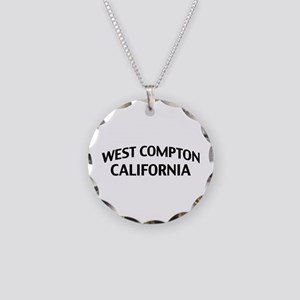 West Compton California Necklace Circle Charm