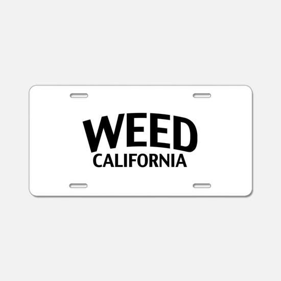 Weed California Aluminum License Plate