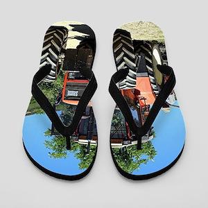 Tractor on El Camino, Spain Flip Flops